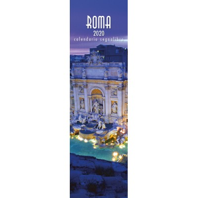 Calendar 6x20,5 cm ROME TREVI FOUNTAIN NIGHT