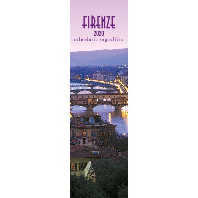 Calendar 6x20 cm FLORENCE - OLD BRIDGE (PINK)