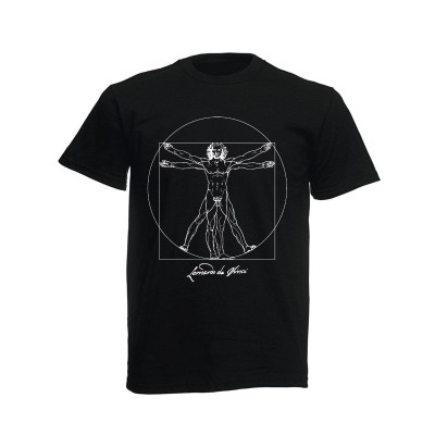 Black T-shirt Vitruvian Man