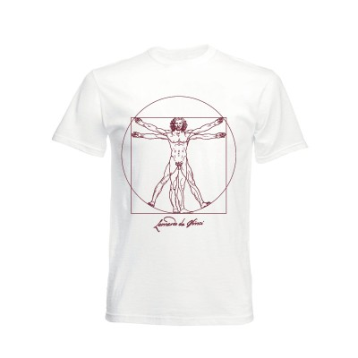 T-shirt black Vitruvian Man