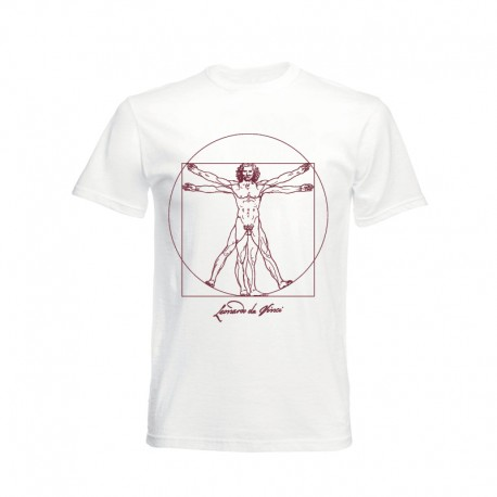 T-shirt black Vitruvian Man