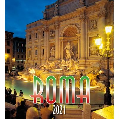 Calendar 31x34 cm - ROME TREVI FOUNTAIN NIGHT