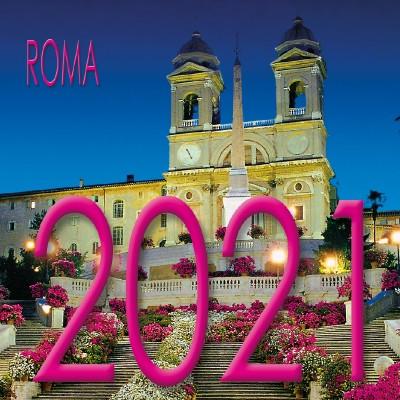 Calendar 8x8 cm ROME PIAZZA DI SPAGNA NIGHT