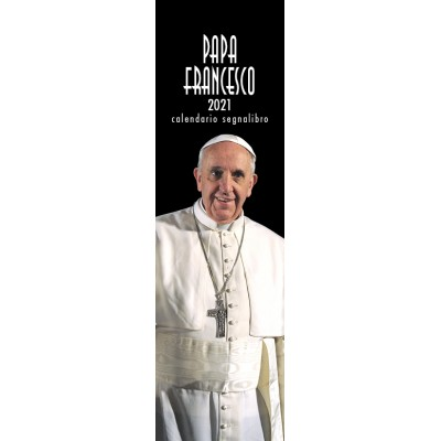 Calendario 6X20,5 PAPA FRANCESCO (NERO)