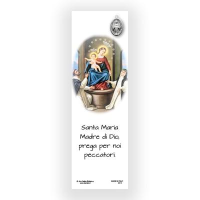 Segnalibro Pergamena Madonna del Rosario