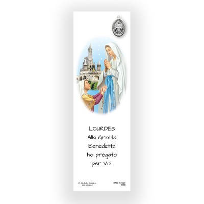 Parchment Bookmark Our Lady of Lourdes