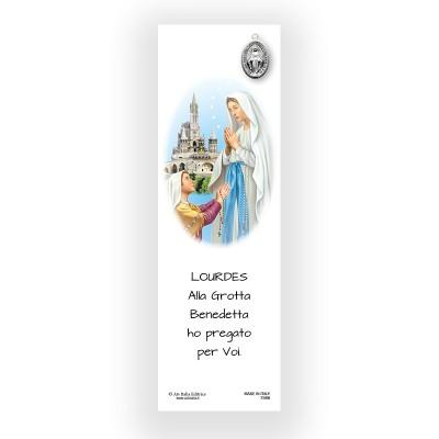 Segnalibro Pergamena Madonna di Lourdes