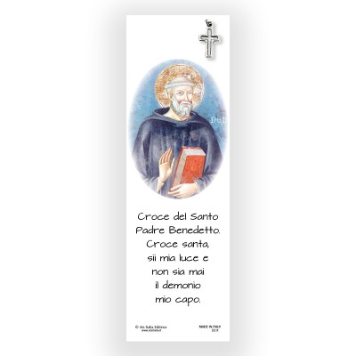 Parchment Bookmark Saint Benedict