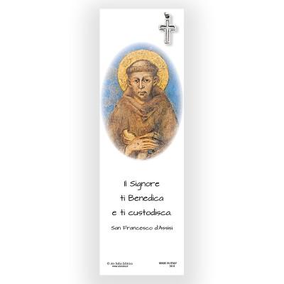 Segnalibro Pergamena San Francesco