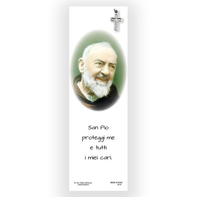 Parchment Bookmark Saint Pio