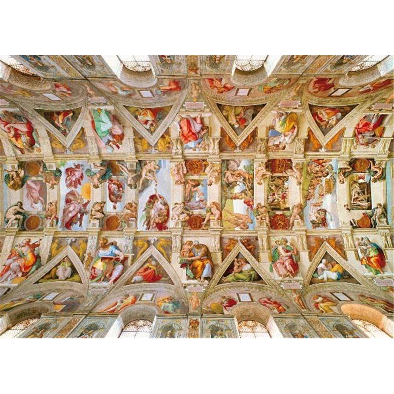 Postcard 11 5x16 cm michelangelo ceiling of the sistine for Decorazione quattrocentesca della cappella sistina