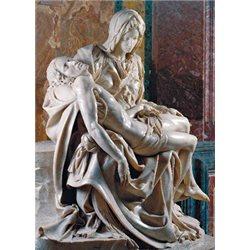 MICHELANGELO - PARTICOLARE DELLA PIETA' - Basilica San Pietro