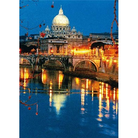ST. PETER'S BASILICA FROM ST. ANGELO'S BRIDGE
