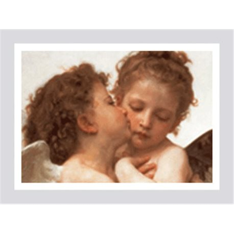 THE FIRST KISS (detail) William A. Bouguereau - Private Collection