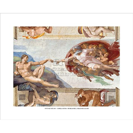 THE CREATION OF ADAM Michelangelo -  Sistine Chapel, Vatican City