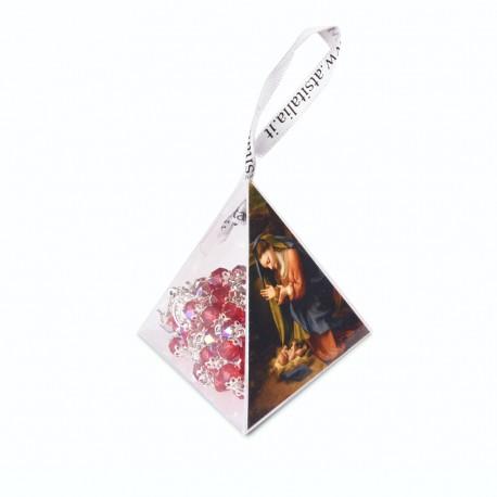 """PVC pyramids """"Nativity"""" with crystal Rosary"""