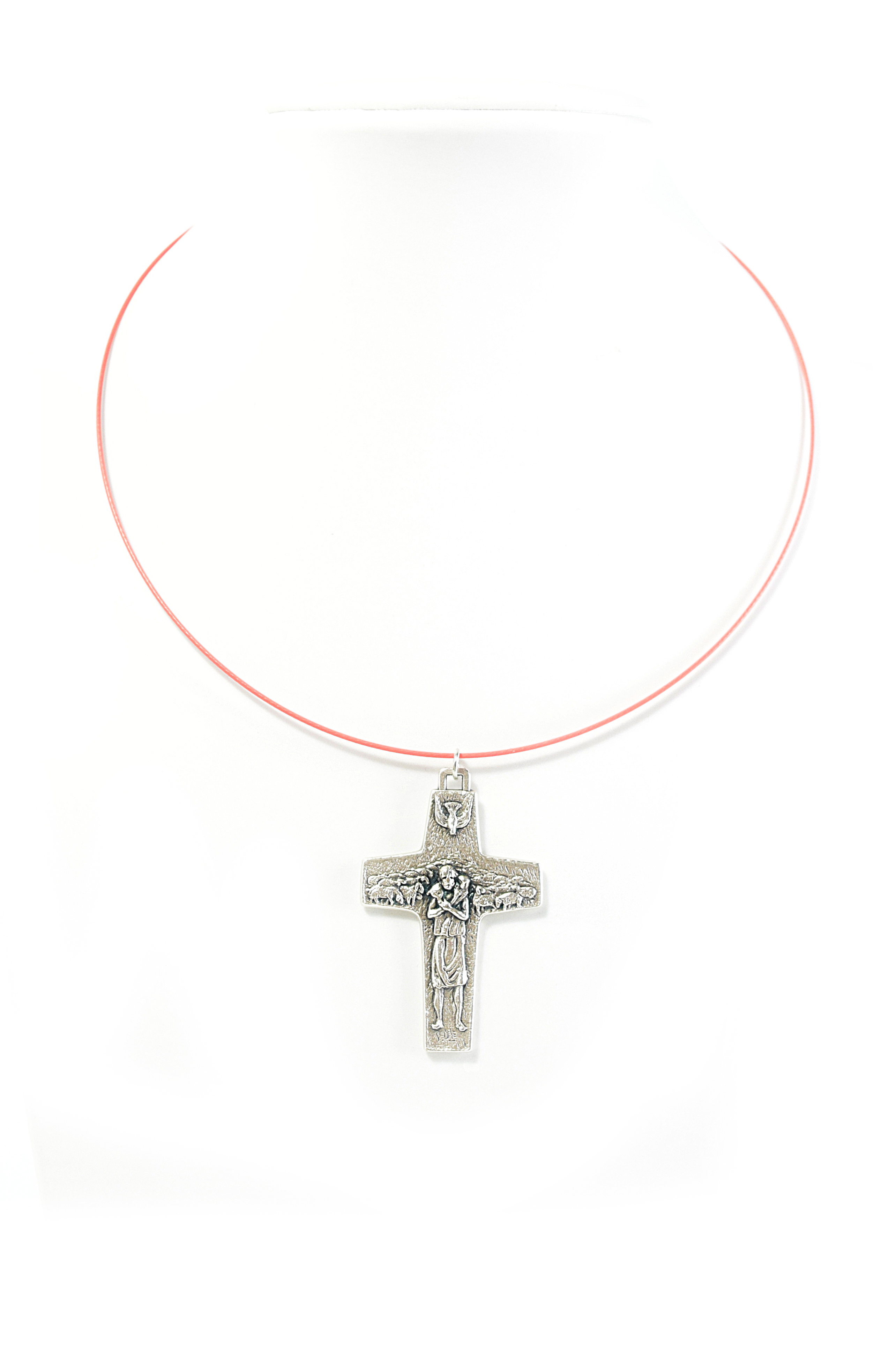 Rigid necklace with Cross Good Shepherd