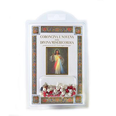 """Libretto """"Coroncina e Novena della Divina Misericordia"""" con rosario"""