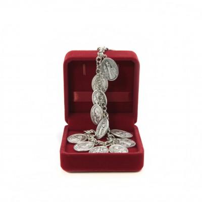 Bracelet with medals in velvet box