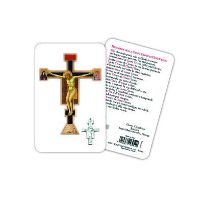 Croce di Giotto - Immagine religiosa plastificata (card) con medaglietta