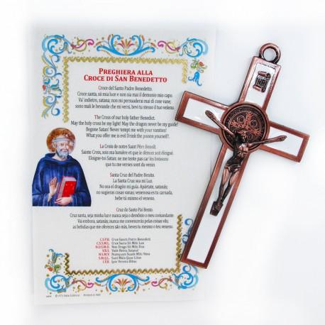 S. Benedetto - Croce smaltata con pergamena