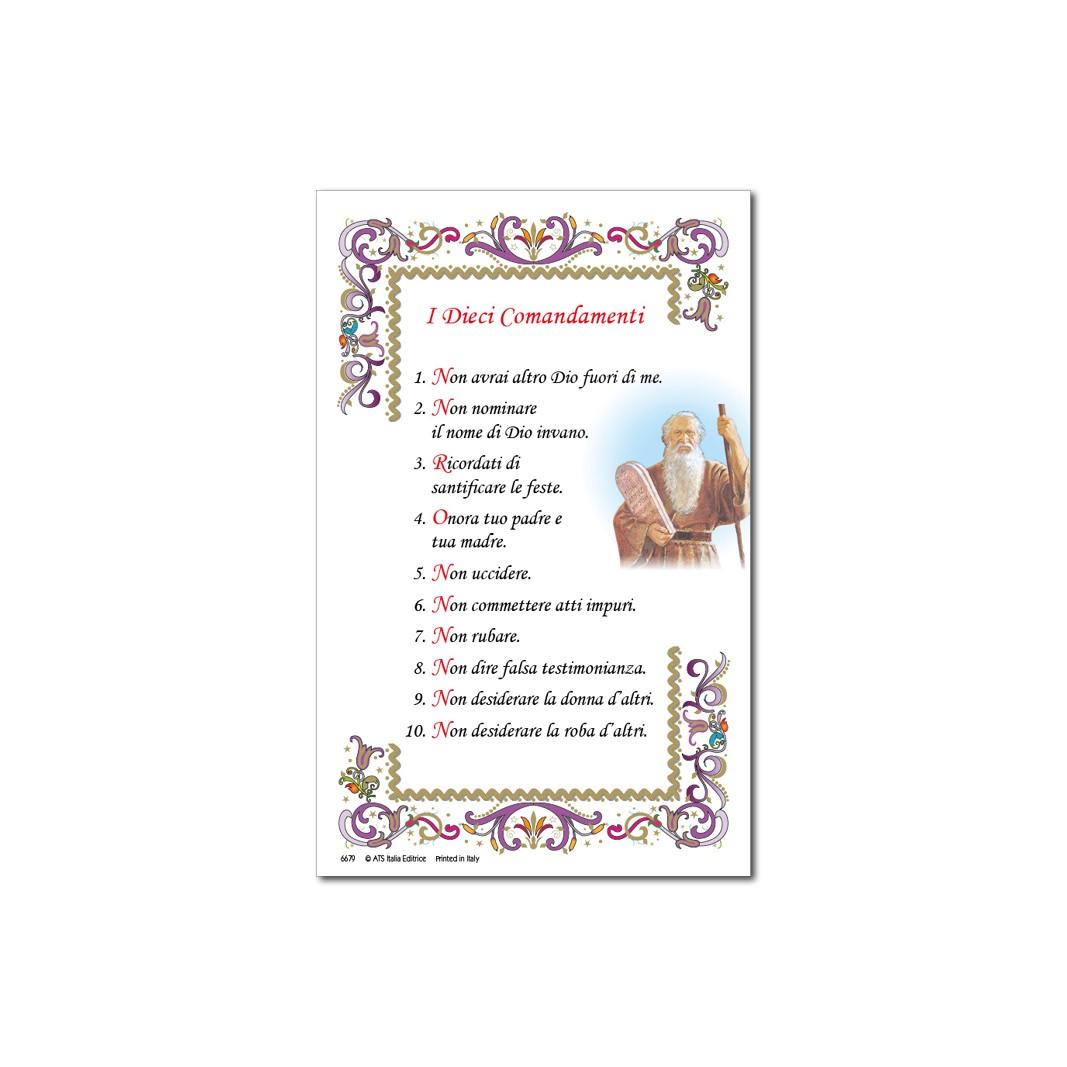 Amato I Dieci Comandamenti - Immagine sacra su carta pergamena - ATS  GE62