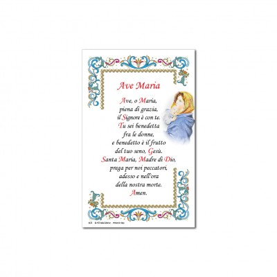 Hail Mary - Holy picture on parchment paper