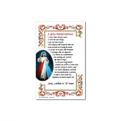 Merciful Jesus - Holy picture on parchment paper