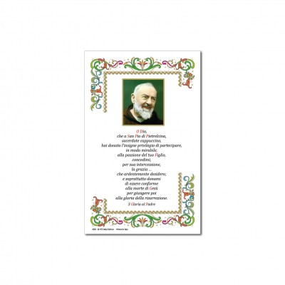 St. Pio - Holy picture on parchment paper
