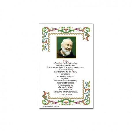 S. Pio - Immagine sacra su carta pergamena