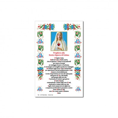 Our Lady of Fatima - Holy picture on parchment paper