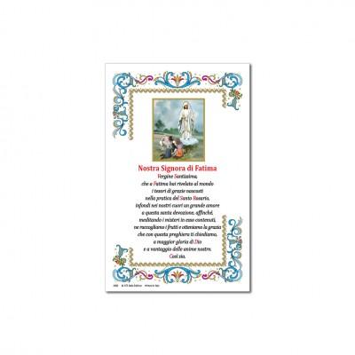 Madonna di Fatima - Immagine sacra su carta pergamena