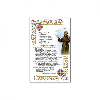 San Francesco d'Assisi - Immagine sacra su carta pergamena