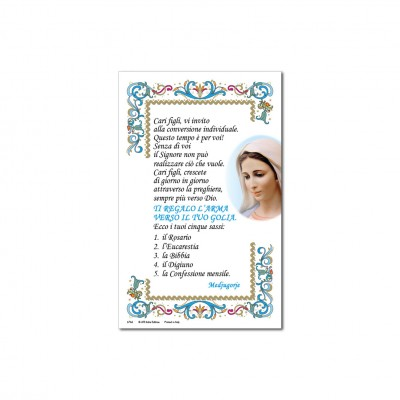 Our Lady Untier of Medjugorje - Holy picture on parchment paper