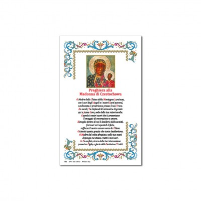 Madonna Czestochowa - Immagine sacra su carta pergamena