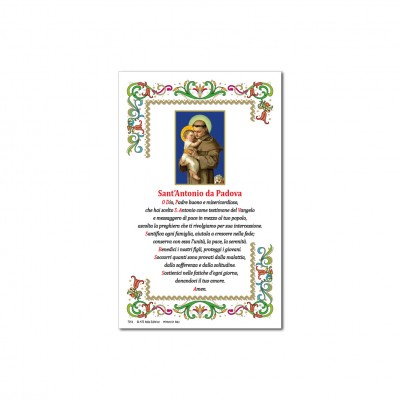 St. Anthony of Padua - Holy picture on parchment paper
