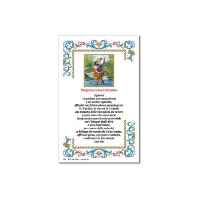 Saint Christopher - Holy picture on parchment paper