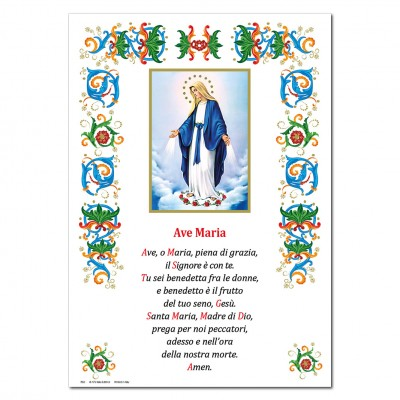 Miraculous Madonna - Holy picture on parchment paper