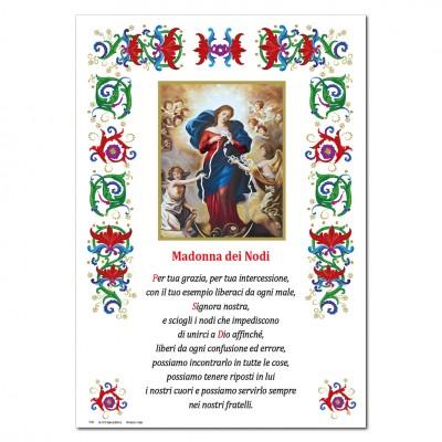 Madonna dei Nodi - Immagine sacra su carta pergamena