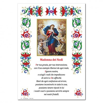 Our Lady Untier of Knots - Holy picture on parchment paper