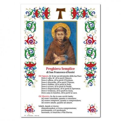 Saint Francesco di Assisi - Immagine sacra su carta pergamena