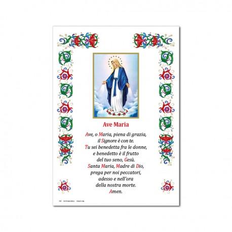 Madonna Miracolosa - Immagine sacra su carta pergamena