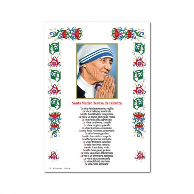 Saint Teresa of Calcutta - Holy picture on parchment paper
