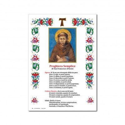 Saint Francis of Assisi - Holy picture on parchment paper