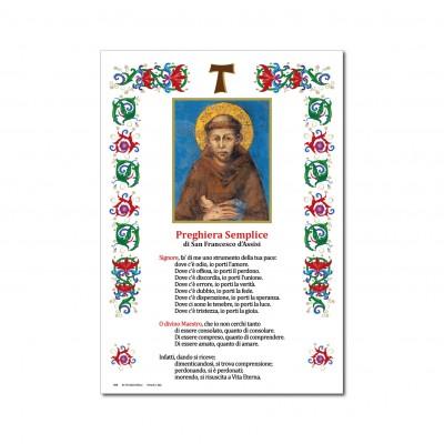 San Francesco d' Assisi - Immagine sacra su carta pergamena