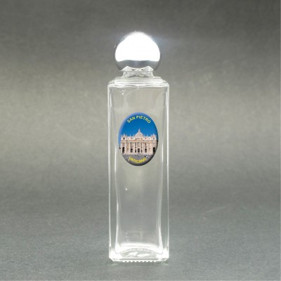 Saint Peter's Basilica - Glass bottle with holy picture