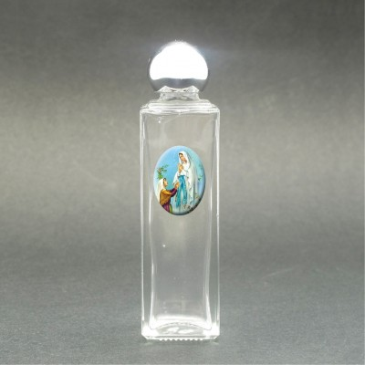 Our Lady of Lourdes - Holy water bottle with sacred picture