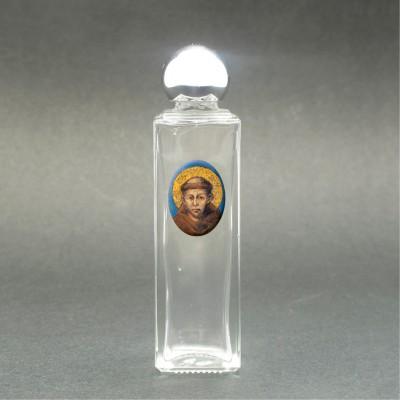 San Francesco di Assisi - Bottiglietta per acqua santa con immagine sacra