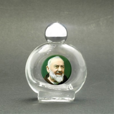 St. Pio - Holy water bottle with sacred picture