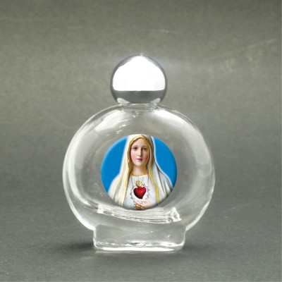 Our Lady of Fatima - Holy water bottle with sacred picture